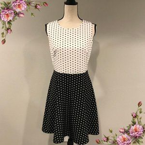 The Limited black and white polka dot dress